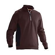 Sweatshirt 1/2 Zip Jobman 5401 PRACTICAL, mit UV-Schutz, braun I schwarz, XXL