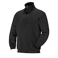 Sweatshirt 1/2 zip schwarz 3XL