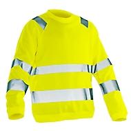 Sweatshirt Hi-Vis Jobman 1150 PRACTICAL, EN ISO 20471 Klasse 3, gelb, XS