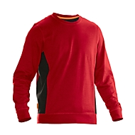 Sweatshirt Jobman 5402 PRACTICAL, met UV-bescherming, rood/zwart, L
