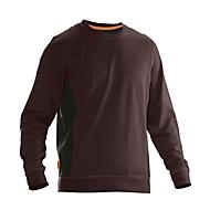 Sweatshirt Jobman 5402 PRACTICAL, mit UV-Schutz, braun I schwarz, 4XL