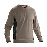 Sweatshirt Jobman 5402 PRACTICAL, mit UV-Schutz, khaki I schwarz, XL