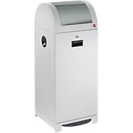 System-Wertstoffsammler, fußbetätigte Einwurfklappe, Müllsackhalter, staubgrau, 70 L