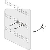 Système R 3000 - Crochets à plaques perforées