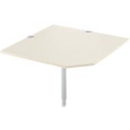 Systemwinkelplatte, CAD, Fuß, B 1000 x T 1000 mm, Ahorn/weißalu