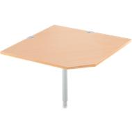 Systemwinkelplatte, CAD, Fuß, B 1000 x T 1000 mm, Buche/weißalu