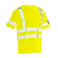 T-Shirt Jobman 5582 PRACTICAL Spun Dye Hi-Vis, EN ISO 20471 Klasse 2/3, PSA 2, gelb, Größe XL