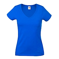 T-Shirt, V-Neck, Royalblau, S, Auswahl Werbeanbringung optional