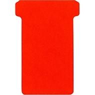 T-Steckkarten, rot, 63/48 mm