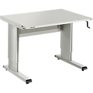 Table d'atelier TRESTON série WB, version ESD, avec manivelle, réglable en hauteur, L 1073 mm