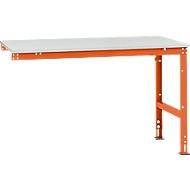 Table d'extension Manuflex UNIVERSAL Standard, plateau de table mélamine, 1500x1000, orangé rouge