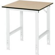 Table de travail, panneau MDF, l. 750 x P 800 x H 760-1080 mm