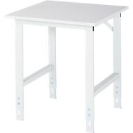 Table de travail, plateau mélaminé, l. 750 x P 800 x H 760-1080 mm