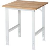 Table de travail RAU, plateau hêtre, l. 750 x P 800 x H 760-1080 mm