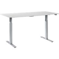 Table de travail réglable en hauteur, mélaminé, 1600 x 800 mm