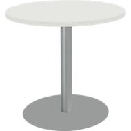 Tafel met schotelvoet, Ø 800 x H 717 mm, wit