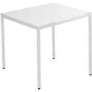 Tafel met stalen buizen, 800 x 800 mm, lichtgrijs/lichtgrijs