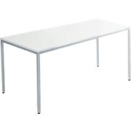 Tafel stalen buis, 1400 x 700 mm, lichtgrijs/wit