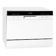 Tafelafwasmachine GSP 206, 0,49 W, A+, 6 dekens, voorkeuze van de starttijd, 7 programma's, 49 dB, wit, enz.