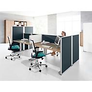 Tafelscheidingswand op tafelblad geluidsisolatie systeem 40, B 800 x H 400 mm, grijs