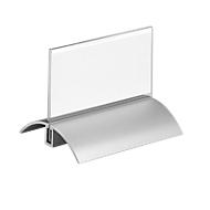 Tafelstandaard, met aluminium voet, 52 x 100 mm, 2 stuks