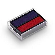 Tampon encreur, bleu/rouge, 2 pièces
