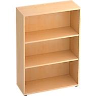 TARA boekenkast, 3 OH, stapelbaar, B. 800 x D 330 x H 1144 mm, ahorndecor