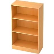 TARVIS boekenkast, B 800 x T 400 x H 1270 mm, 3 OH, beukendecor