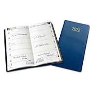 Taschenkalender, mit Telefonregister, 32 Seiten, B 90 x H 160 mm, Werbedruck 70 x 30 mm, blau, Auswahl Werbeanbringung optional
