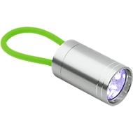 Taschenlampe Glow Torch, Aluminium, 6 helle LEDs, m. fluoreszierender Handschlaufe, grün