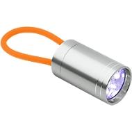Taschenlampe Glow Torch, Aluminium, 6 helle LEDs, m. fluoreszierender Handschlaufe, orange