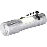 Taschenlampe, XPE LED/60 lm + COB LED/70 lm, 4 Modi, Aluminium, H 92 x Ø 23 mm, WAB B20xT8 mm