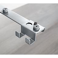 Tassenhaak voor bureautafel PLANOVA ERGOSTYLE, blank aluminium