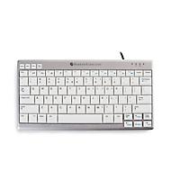 Tastatur BakkerElkhuizen UltraBoard 950 Kompakt, ergonomisch, 2 USB-Ports, alufarben