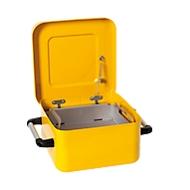 Tauchbehälter asecos, Stahl, 8 l, selbstschließender Deckel, inkl. Teilekorb