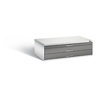 Tekeningkast van staal, voor formaten tot A0, 3 schuifladen