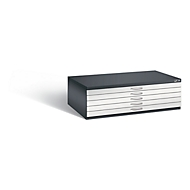 Tekeningkast van staal, voor formaten tot A0, 5 schuifladen