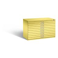 Tekeningkast van staal, voor formaten tot A1, 10 schuifladen