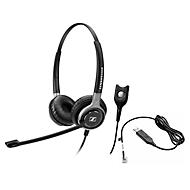 Telefon-Headset Sennheiser SC 660, kabelgebunden, binaural, HD, Ohrpolster, +Adapter CEHS-CI02