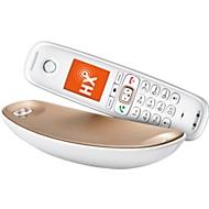 Téléphone sans fil Gigaset Sculpture CL750, analogique, blanc/champagne