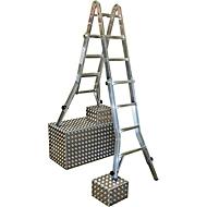 Telescopische ladder met scharnieren, met 4 x 4 sporten