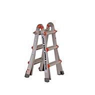 Teleskopleiter, max. Leiterhöhe 3,02 m, 4 x 3 Sprossen