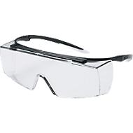 tempelbril Uvex super f OTG, EN 166, EN 170, polycarbonaat helder, montuur zwart/wit, 5 stuks, 5 stuks