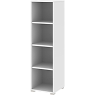 TEQSTYLE boekenkast, 4 OH, B 400 x D 400 x H 1465 mm, wit