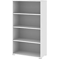 TEQSTYLE boekenkast, B 800 x D 400 x H 1465 (4 OH), wit