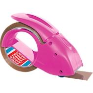 tesa® dérouleur à la main Pack´n Go pour ruban d'emballage, réf. tesa 51113, rose