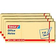 TESA Haftnotizen Office Notes, 50 mm x 40 mm, 4 x 3 x 100 Blatt, gelb