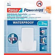tesa Powerstrips Haken Wave, für Feuchträume, hält Gegenstände bis 2 kg, 1 Stück