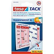 tesa Tack® Kkeefpads XL, transparant, dubbelzijdig klevend, 36 st.,