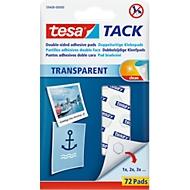 tesa Tack® Klebepads, transparent, doppelseitig klebend, 72 Stck.
